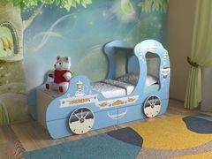 Детская кровать Детская кровать СлавМебель Карета с 2 ящиками (синий)