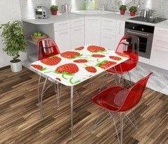 Обеденный стол Обеденный стол Дисави Фотопечать клубника