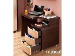 Письменный стол Глазовская мебельная фабрика Элегия-1 палисандр/ дуб отбеленный