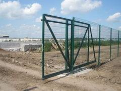 Терол 3D-ограждение в откатных воротах