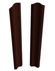 Забор Забор Скайпрофиль Штакетник M-96 двусторонний Пэ глянцевый рифленый RAL8017