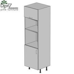 Кухонный шкаф Кухонный шкаф Диприз Пенал 60 Д 9001-34