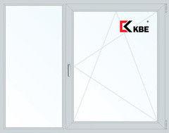 Окно ПВХ Окно ПВХ KBE 1700*1400 2К-СП, 5К-П, Г+П/О
