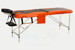 Мебель для салонов красоты  Массажный стол AAF 2-х сегментный складной (алюминий), цвет черно-оранжевый