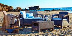 Комплект мебели из ротанга Keter Corfu set коричневый