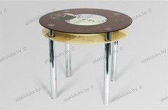 Обеденный стол Обеденный стол Стеклолюкс С 31-02 Кофе