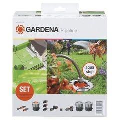Посадочный инструмент, садовый инвентарь, инструменты для обработки почвы Gardena Базовый комплект садового водопровода Gardena (8255,20)