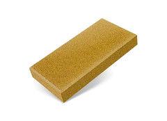 """Резиновая плитка Rubtex Брусчатка """"Кирпич"""" 200x100 (толщина 20 мм, желтая)"""