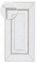 Мебельный фасад Мебельный фасад ЗОВ Глазго БС (белый, патина серебро, структура)
