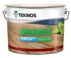 Защитный состав Защитный состав Teknos Woodex Aqua Wood Oil (9 л) бесцветный