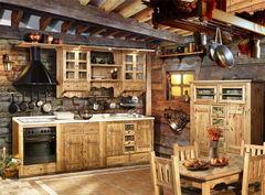 Кухня Кухня Лучший дом Пример 160 старая сосна