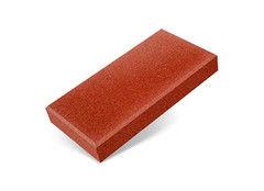 """Резиновая плитка Rubtex Брусчатка """"Кирпич"""" 200x100 (толщина 20 мм, красная)"""