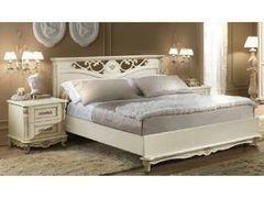 Кровать Кровать Пинскдрев Алези П349.14/1 200x140 (слоновая кость с золочением)