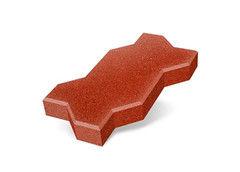 """Резиновая плитка Rubtex Брусчатка """"Волна"""" 220x130 (толщина 40 мм, красная)"""