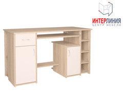 Письменный стол Интерлиния СК-006 Дуб сонома+Белый