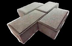 Тротуарная плитка Тротуарная плитка Завод тротуарной плитки Кирпичик 6 - 200х100х60 (серая)