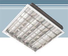 Встраиваемый светильник Албес RVA с алюминиевым отражателем в Т-профиль
