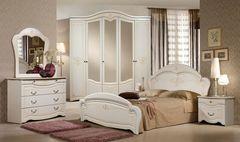 Спальня Слонимдревмебель Лилия 5-д (белая, золото)