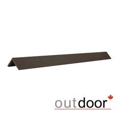 Декинг Декинг Outdoor Угол завершающий ДПК шлифованный темно-коричневый 50x50x3000