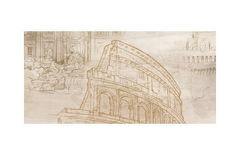 Плитка Плитка Golden Tile Savoy Coliseum 6 бежевый Панно 60x30