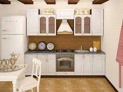 Кухня Кухня Интерлиния Metrio Пример 28 ясень серебристый
