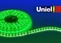 Uniel ULS-5050-60LED/m-10mm-IP67-DC12V-14,4W/m-5M-GREEN