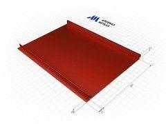 Фальцевая кровля АрсеналМеталл Панель Полиэстер матовый 0.5 мм RAL3005
