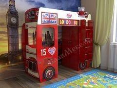 Двухъярусная кровать СлавМебель Автобус