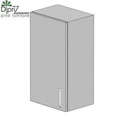 Кухонный шкаф Кухонный шкаф Диприз Шкаф верхний 45 Д 9001-3 (1 дверь)
