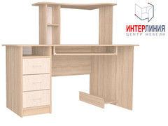 Письменный стол Интерлиния СК-003 Дуб сонома+Дуб белый