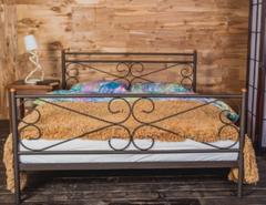 Кровать Кровать Red&Black Мишель 160х200 (коричневый бархат)