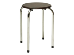 Кухонный стул Signal Taboret (хром/темно-коричневый)