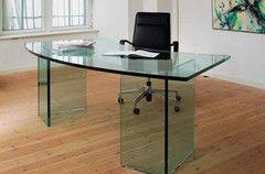 Стол офисный Valtera из закаленного стекла 8мм без УФ печати