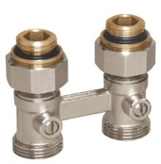 """Комплектующие для систем водоснабжения и отопления Meibes Узел нижнего подключения Basic line D1/50 DN15 (G3/4""""-ec x G1/2"""") прямой (1230101)"""