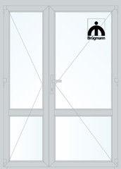 Дверь ПВХ Дверь ПВХ Brugmann 2D 1500*2100 двустворчатая Модель 118