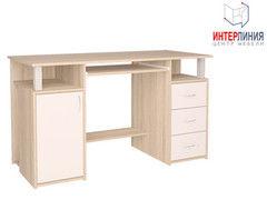 Письменный стол Интерлиния СК-008 Дуб сонома+Белый