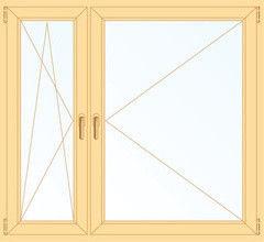 Деревянное окно Сосна 1460*1400, в/с, П/О+П