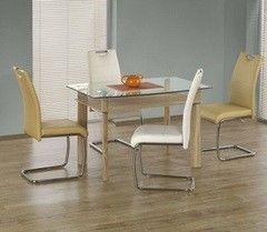 Обеденный стол Обеденный стол Halmar Murano стекло