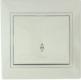 Lezard Выключатель 1кл. проходной белый/крем