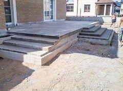 Лестница из бетона Монолит Пример 57