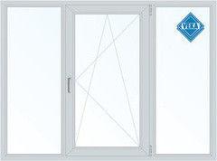 Окно ПВХ Окно ПВХ Veka Softline 2100*1400 2К-СП, 5К-П, Г+П/О+Г