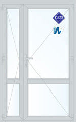 Дверь ПВХ Дверь ПВХ Veka 1300*2100 двустворчатая Модель 108