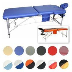 Мебель для салонов красоты  Массажный стол AAF 2-х сегментный складной (алюминий), цвет синий