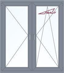 Алюминиевое окно Realit 1400*1600 П+ПО