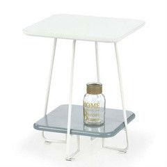 Журнальный столик Halmar Mandy (белый/ серый)