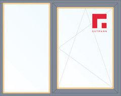Дерево-алюминиевое окно Gutmann Сосна 1460*1400, 1с, Г+П/О