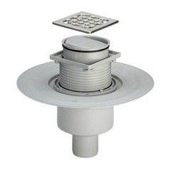Водоотвод для ванной комнаты Viega Душевой трап вертикальный с сухим затвором Advantix 583224