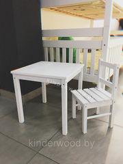 Детский стол Kinderwood из массива (комплект)