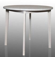 Обеденный стол Обеденный стол Драўляная майстэрня Круглый из массива ясеня (белый)