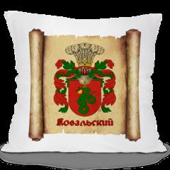 Декоративная подушка Карандаш Фамильный герб 01693